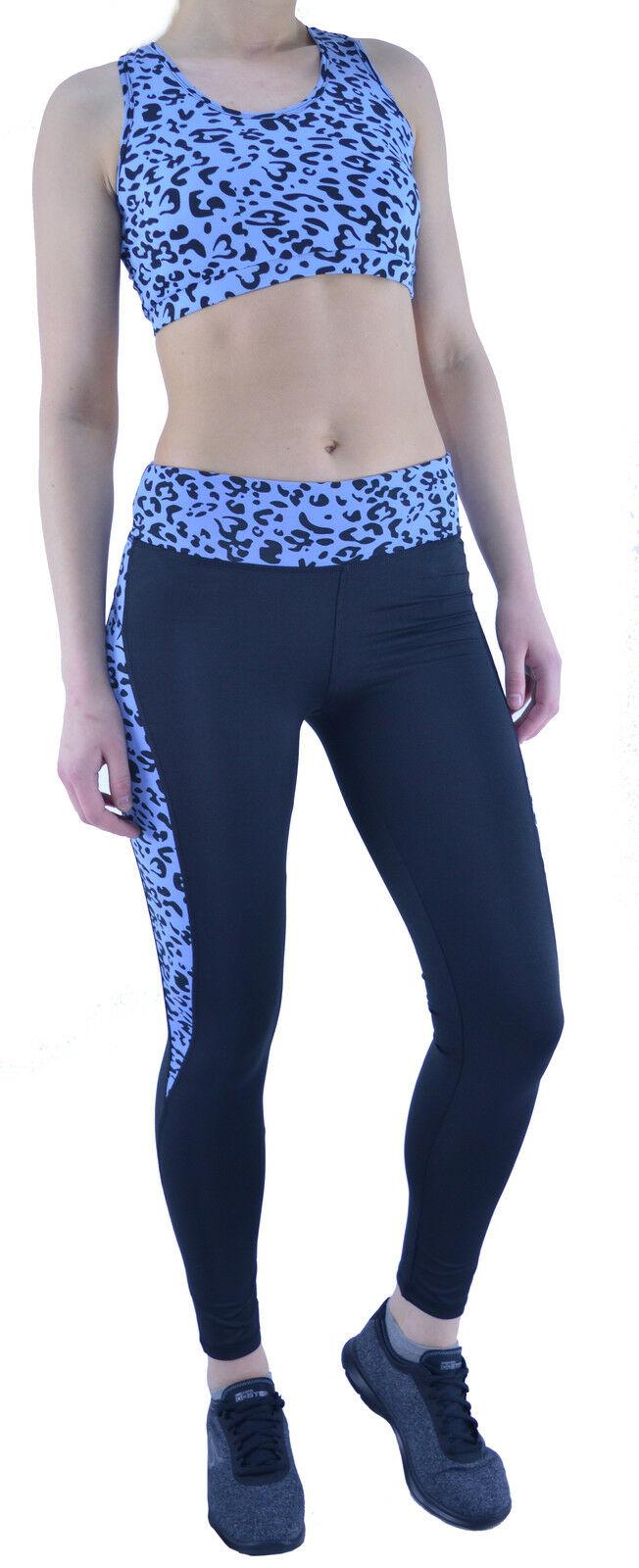 Activewear Leggings Yoga Pants Printed Mid Waist XS (UK 8) 99p / Sports Bra XS (UK 8) 99p delivered @ athletic_sportswear / ebay