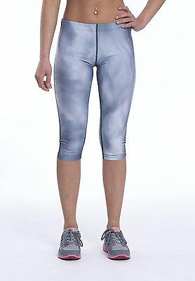 Women's Gym Leggings Ladies Fitness Capri Exercise Yoga Sportswear Pants 3/4 Size 10 99p delivered @ athletic_sportswear / ebay
