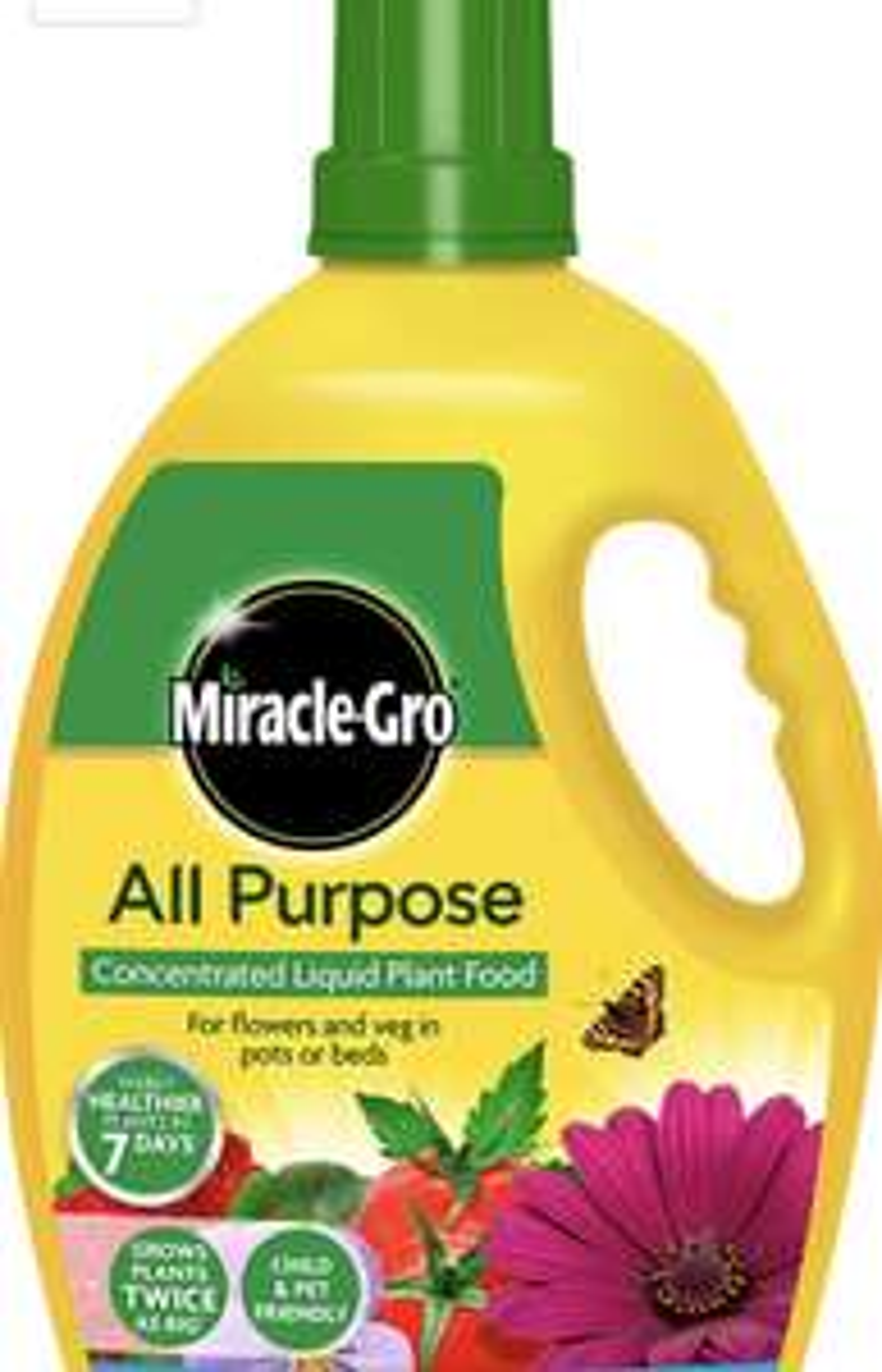 Miracle-Gro All Purpose Concentrate Liquid Plant Food 2.5 Litre, Yellow £10 (+£4.49 Non Prime) @ Amazon