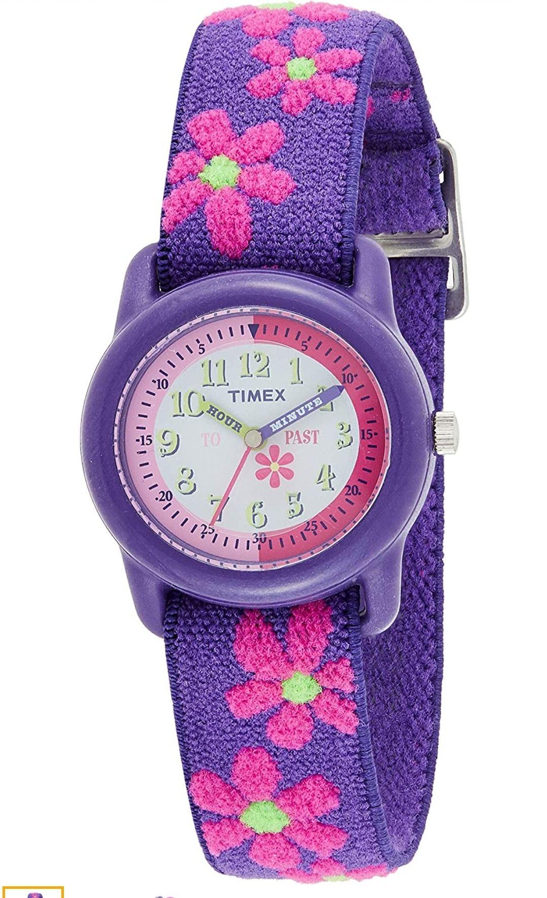 Timex Kid's Analog 28 mm Elastic Fabric Strap Watch £12.99 + £4.49 Non Prime @ Amazon