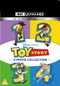 Toy Story 1-4 - 4K Ultra HD Collection £49.99 save 10% using Red Carpet membership = £44.99 delivered @ Zavvi