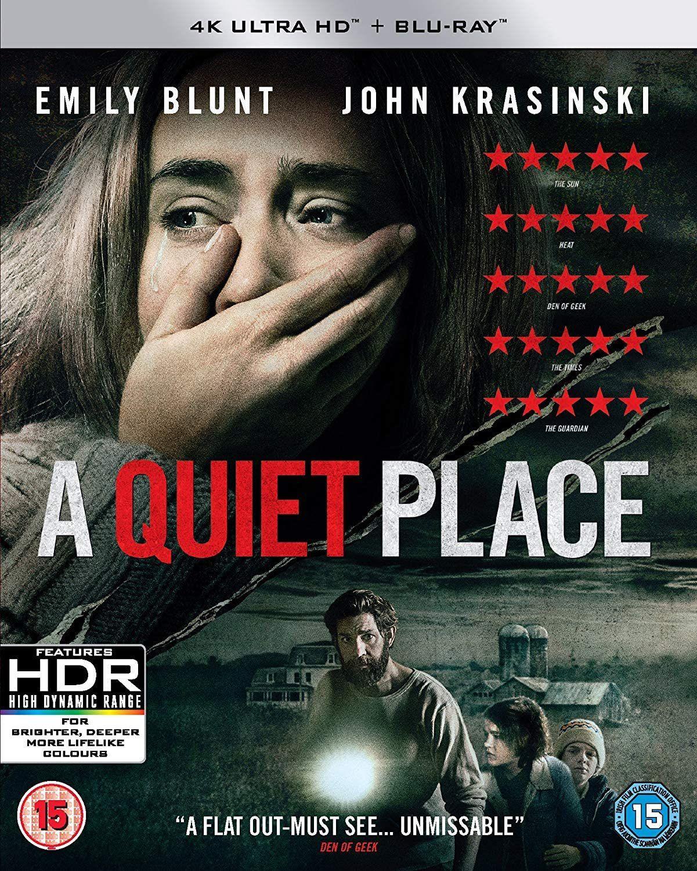 A Quiet Place (4KUHD + Blu-ray) [2018] [Region Free] £9.99 (£2.99 p&p non prime) @ Amazon