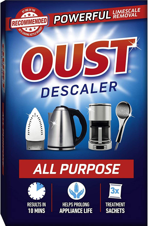 Oust Powerful All Purpose Descaler, – (3 Sachets) £1 (£4.49 p&p non prime) 85p / 95p S&S @ Amazon