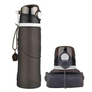 2 x MyFriday Foldable Silicone Travel Water Bottle BPA Free 750ml for £9.99 delivered (available in 5 colours) @ MyMemory