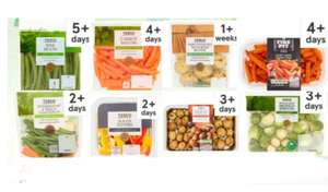 Any 3 For 2 On selected Vegetables 80g,720g, Clubcard price @ Tesco