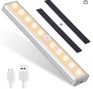 OUSFOT Cupboard Light Motion Sensor 10-LED Wireless USB Rechargeable £6.49 prime Sold by ousfot and Fulfilled by Amazon