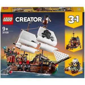 LEGO Creator 31109 3in1 Pirate Ship Toy Set £64.99 + £1.99 Delivery at Zavvi