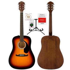 Fender FA-125 Acoustic Guitar + Extra Strings, Tuner, Stand, Picks & Fender Play 3 Month Subscription £99.98 (Membership Required) @ Costco
