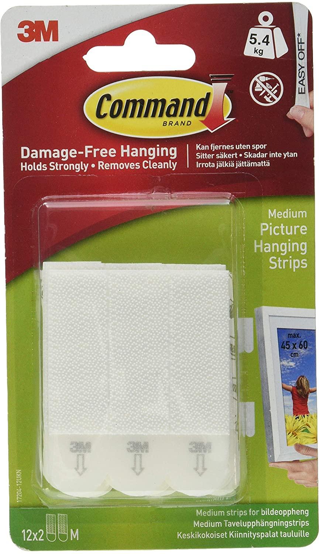 Command Medium Picture Hanging Strips 12 Value Pack - £6.15 (+£4.49 non prime) @Amazon