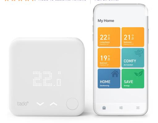 TADO Smart Thermostat Starter Kit V3+ £129.97 @ Currys PC World