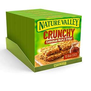 Nature Valley Crunchy Canadian Maple Syrup Cereal Bars 5x 42g (Pack of 5, total 25 Bars) / Variety Pack £5 (+£4.49 non prime) @ Amazon