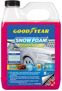 Goodyear Snow Foam Shampoo Car Cherry Scent 5L for £10.99 delivered @ eBay / Thinkprice