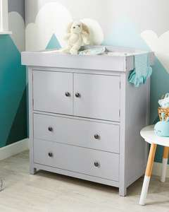 Mamia Grey Baby Changing Unit £99.99 + Free delivery with code & Guarantee/Warranty 3 Years @ ALDI