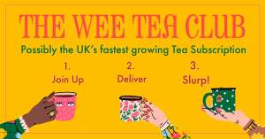 Wee Tea Company's monthly Wee Tea Club (60 cups, stainless steel in-cup infuser, tea caddy) for £8.50 delivered using code @ Wee Tea Company