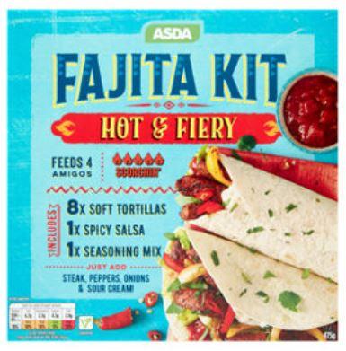 Fajita Kit Hot and fiery 40p at Asda Llanelli