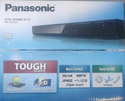 Refurbished Panasonic DVD-S500EB-K Black Region 2 (UK) DVD/CD Player £11.99 delivered @ uk-tech-spares / ebay