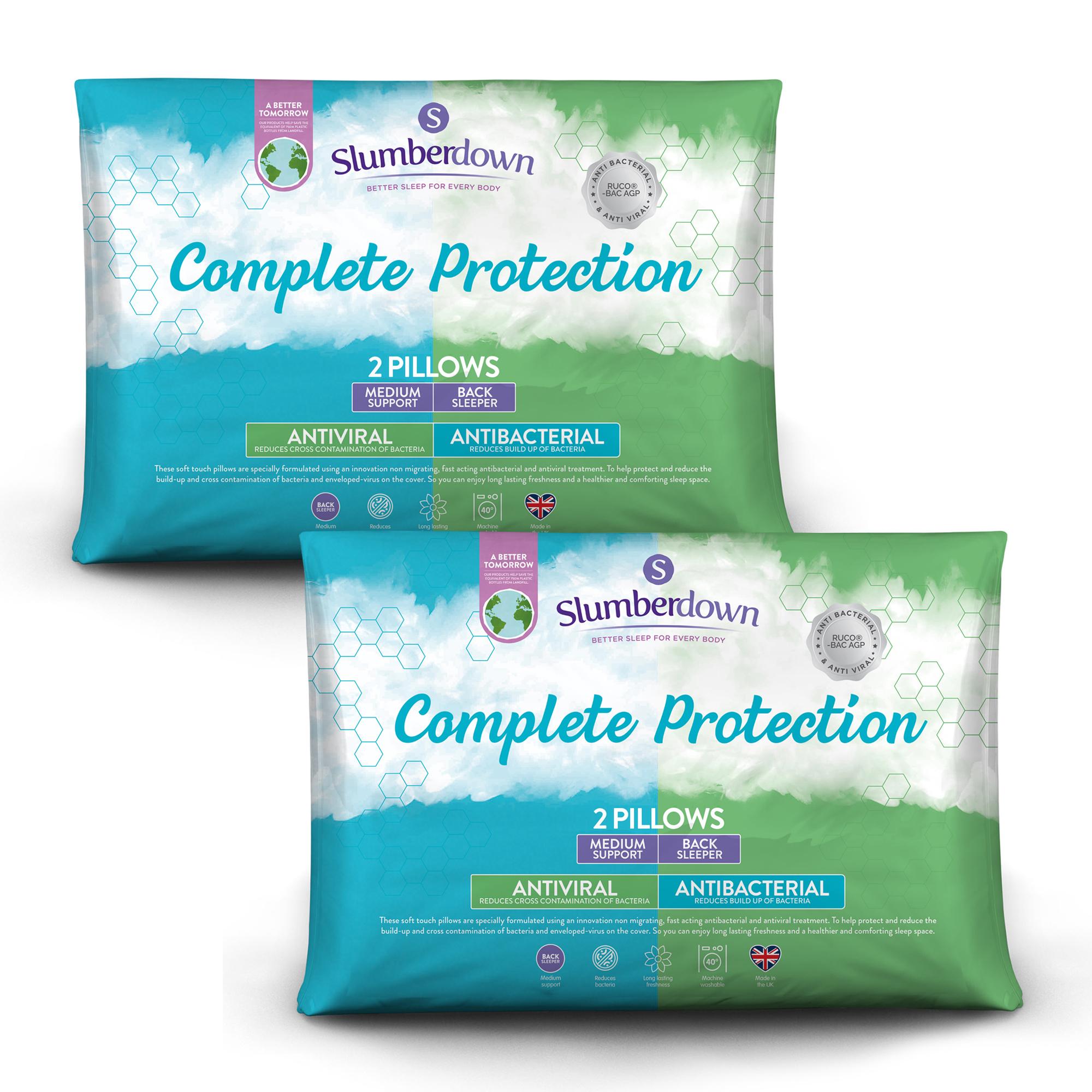 Buy One Get One Free: Slumberdown Anti-Viral / Anti-Bacterial Pillow Pair (4 Pillows Total) £16.79 Delivered @ Sleepseeker