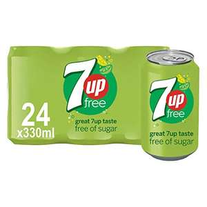 7up Free, 330 ml (Pack of 24) £6.45 + £4.49 NP Usually dispatched within 1 to 3 weeks @ Amazon
