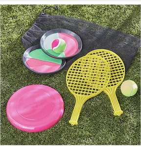 Outdoor 3 in 1 Tennis Catch and Flying Disc Game - £8 + Free Click and Collect @ Dunelm