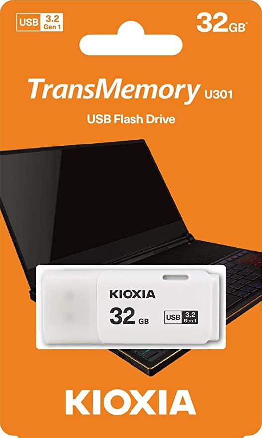 Kioxia 32GB TransMemory U301 USB3.0 Flash Drive £3.14 Prime (+£4.49 Non-Prime) @ Amazon