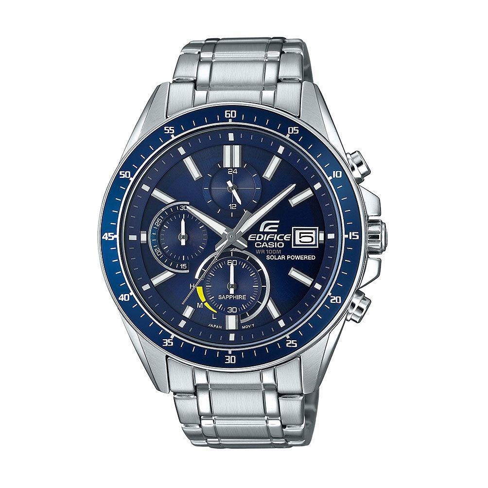 Casio Edifice Men's Sapphire Solar Powered Steel Bracelet Watch £79.99 with code at H.Samuel