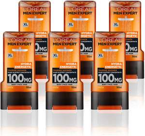 L'Oréal Men Expert Hydra Energetic Shower Gel for Men 300 ml Pack of 6, £9 (£4.49 p&p non prime) voucher and s&s £6.75 @ Amazon
