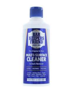 Home Care Bar Keepers Friend Multi Surface Household Cleaner & Stain Remover Powder, 250 g £1.19 (+£4.49 NP) Delivered @ Amazon