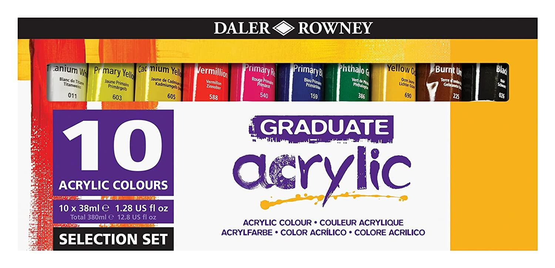 Daler-Rowney Graduate Acrylic Paint Selection £6.64 (Prime) + £4.49 (non Prime) at Amazon