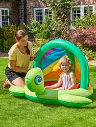 Kids Turtle Baby Pool with Connection Canopy £9.99 instore & online (Min Basket / Click & Collect, Delivery Charge Applies) @ Asda