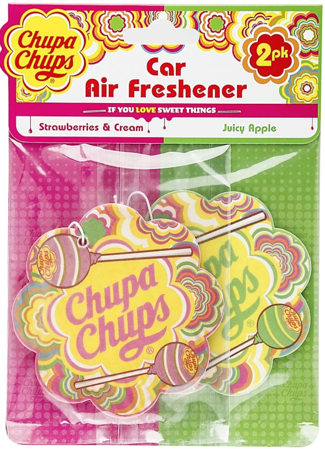 Chupa Chups car air fresheners 2 pack £1 - Poundland Crayford