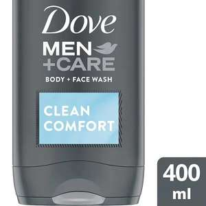 Dove Men Care Body Wash 400ml £3.79 Buy One Get One Free at Superdrug - Free Click and Collect