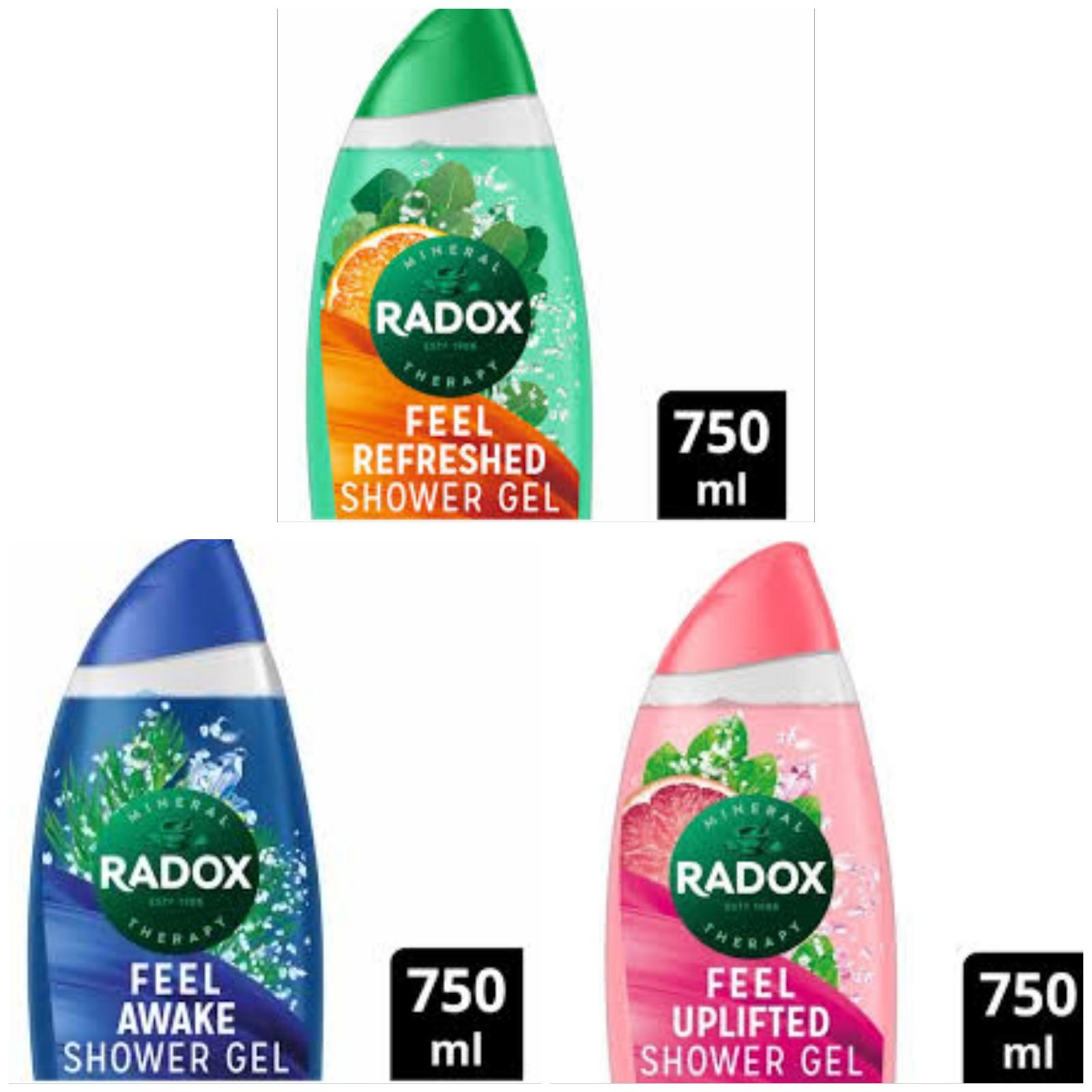 Radox Shower Gels 750ml (XXL Bottle) Now £1.98 + 500ml (XL Bottles) Now £1.48 - Free click & collect @ Superdug