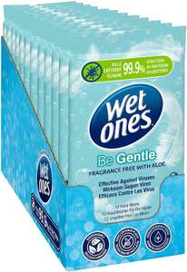 Wet Ones Be Gentle Sustainable Antibacterial Wipes, 144 Wipes (12 Packs of 12 Wipes) £7.75 (+£4.49 non-prime) @ Amazon