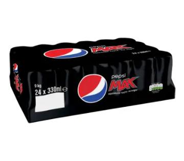 Pepsi max 24 pack 330ml £6.50 Co-operative