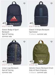 Various Adidas Backpacks Now from £11.22 - £11.73 with code on Adidas App Free delivery creators club @ Adidas App