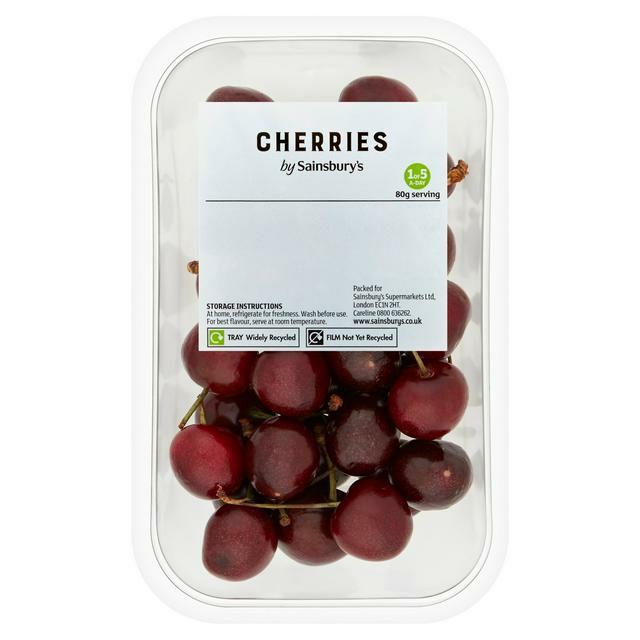 Cherries 250g - £ 1.75 (£7/kg) / Cherries 800g - £4.00 (£5/kg) @ Sainsbury's