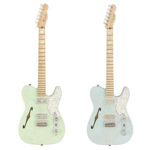 Fender Parallel Universe II Telecaster Magico in Transparent Daphne Blue or Surf Green - With Deluxe Hardshell Case £1699 Each @ Andertons