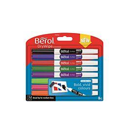 Berol Dry Eraser Pens Broad Tip Pack of 8 Assorted £2 @ Ryman