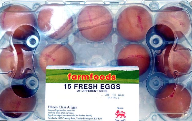 15 British Lion Quality Fresh Eggs are 50p @ Farmfoods