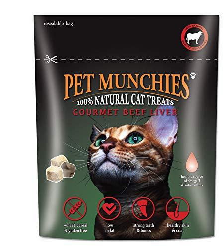 Pet Munchies Cat Treats Gourmet Beef Liver 8x10gm £1.45 (+£4.49 non-prime) @ Amazon