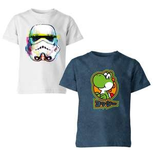 2 x Kids T-Shirts for £10 delivered with code - Nintendo, Star Wars, Disney, Marvel + more @ IWOOT