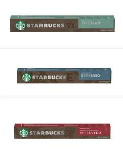 Nespresso Starbucks Coffee Pods ( Pack of 10 ) Espresso, Sumatra, Pike Place Lungo £2 In store Fulton's Foods Rothwell Leeds