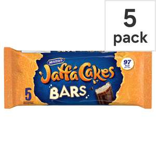 Mcvities Jaffa Cakes Cake Bars 5 Pack 62p Clubcard Price @ Tesco