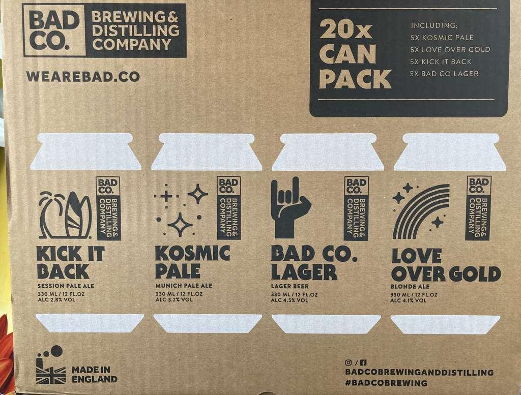 Bad co Beer 20 can case £12 @ Asda (Minworth)