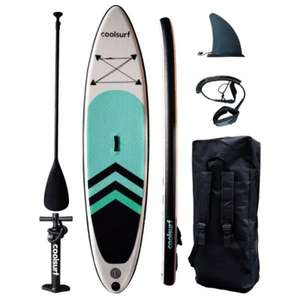 """COOLSURF Sail 10'4"""" Inflatable SUP Package (White/Green/Black) £245.98 delivered @ sportpursuit.com"""