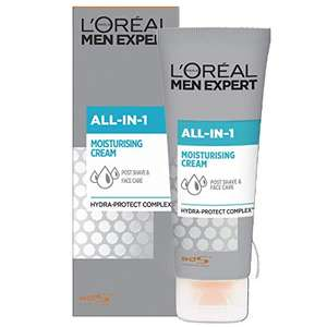 L'Oréal Men Expert All-In-One Soothing Post-Shave & Hydrating Face Cream for Sensitive Skin 75 ml - £2.50 (+£4.49 Non-Prime) @ Amazon