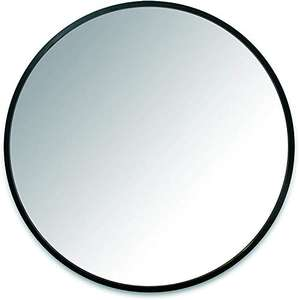 """Umbra Hub 24"""" Circular Mirror by Umbra – Round Mirror for Entryways, Washrooms, Living Rooms and More, Black - £46.35 @ Amazon"""
