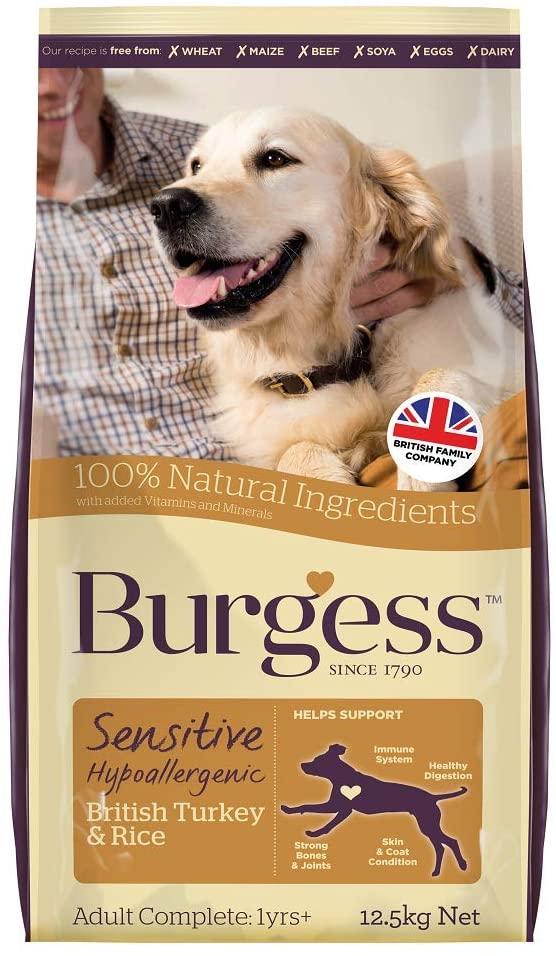 Burgess Sensitive Turkey & Rice dog food 12.5kg £20.36 @ Amazon