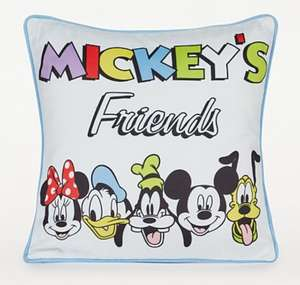 Mickey And Friends Multi Cushion Only - £3.43 (Discount shows in Basket) + Free Click and collect @ George Asda