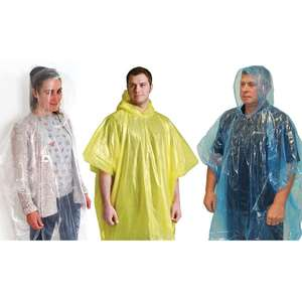 9 x Assorted Unisex Adult Large Emergency Waterproof Reusable Rain Ponchos £2 @ Yankee Bundles